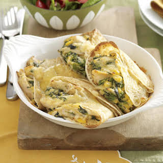 Chicken and Corn Crepes with Cheese Sauce.