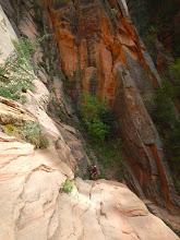 Photo: Climbing up