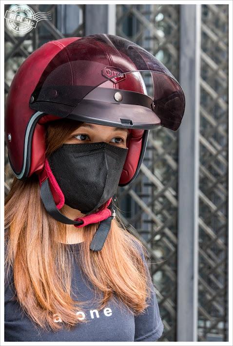 康乃馨PM2.5 3D立體口罩黑色