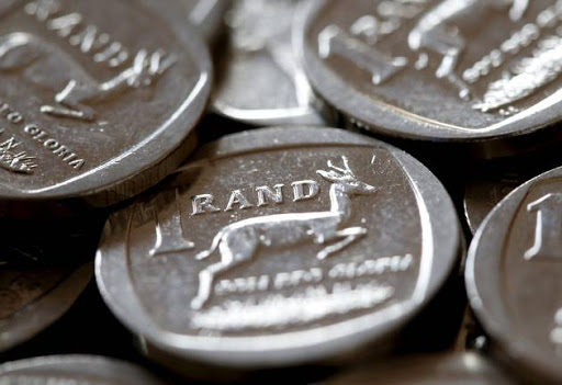 South African Rand coins. REUTERS/Mike Hutchings/File Photo