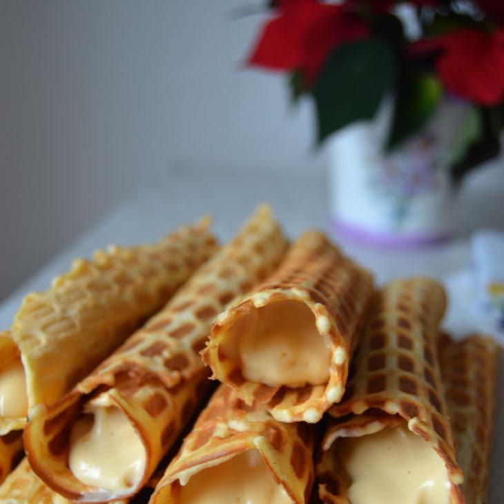 Crispy Lithuanian Waffles with Dulce De Leche Cream Filling Recipe