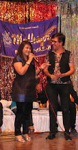 Photo: Ms. Aarti Parekh with MC Dilip Rawal