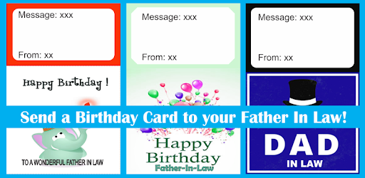 Birthday Card Father In Law Apps Bei Google Play