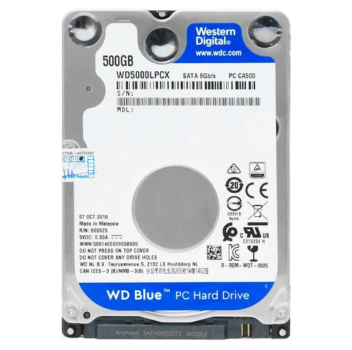HDD WD 500GB 2.5 Sata 3 5400 (WD5000 LPCX)_1