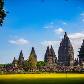 Prambanan Temple Park by Norbertus Andreanto Photos - Buildings & Architecture Statues & Monuments ( indonesian, java, yogya, candi, hindhuism, hindhu, temple, prambanan, indonesia, park )