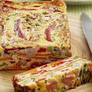 Ham and Sweet Potato Frittata.