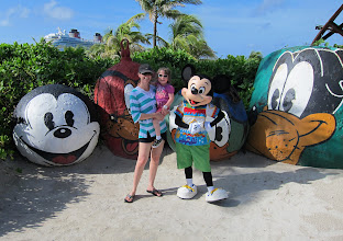 Photo: Visiting Castaway Cay with Mickey Mouse