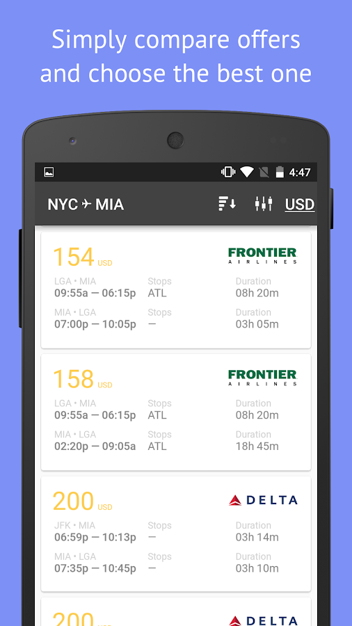 Cheap flights — TrendAvia- screenshot