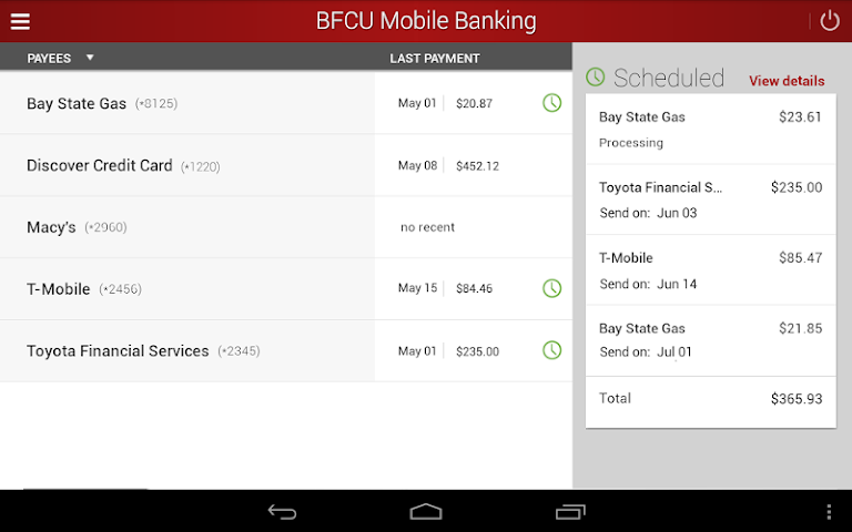 android BFCU Mobile Screenshot 13