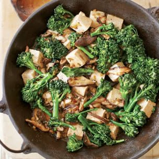 Stir-Fried Tofu with Mushrooms and Greens