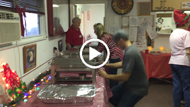 Video: The catered meal is set up and delivered.....