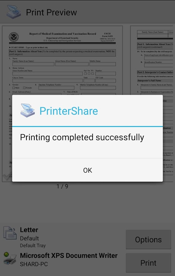Mobile Print - PrinterShare- screenshot
