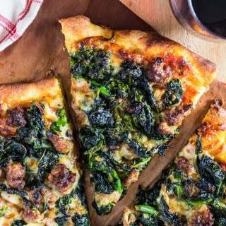 Turkey Sausage and Broccoli Rabe Pizza.