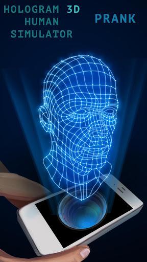 人々は 3Dシミュレータをホログラム