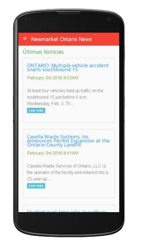 Newmarket Ontario News 1.0 screenshots 1