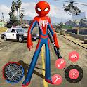 New Spider Stickman Rope Hero Shooting Crime 2020 icon