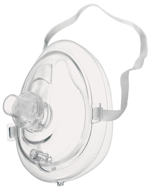 CPR-mask med anslutning för syrgas