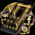 Black Golden Brown Theme icon