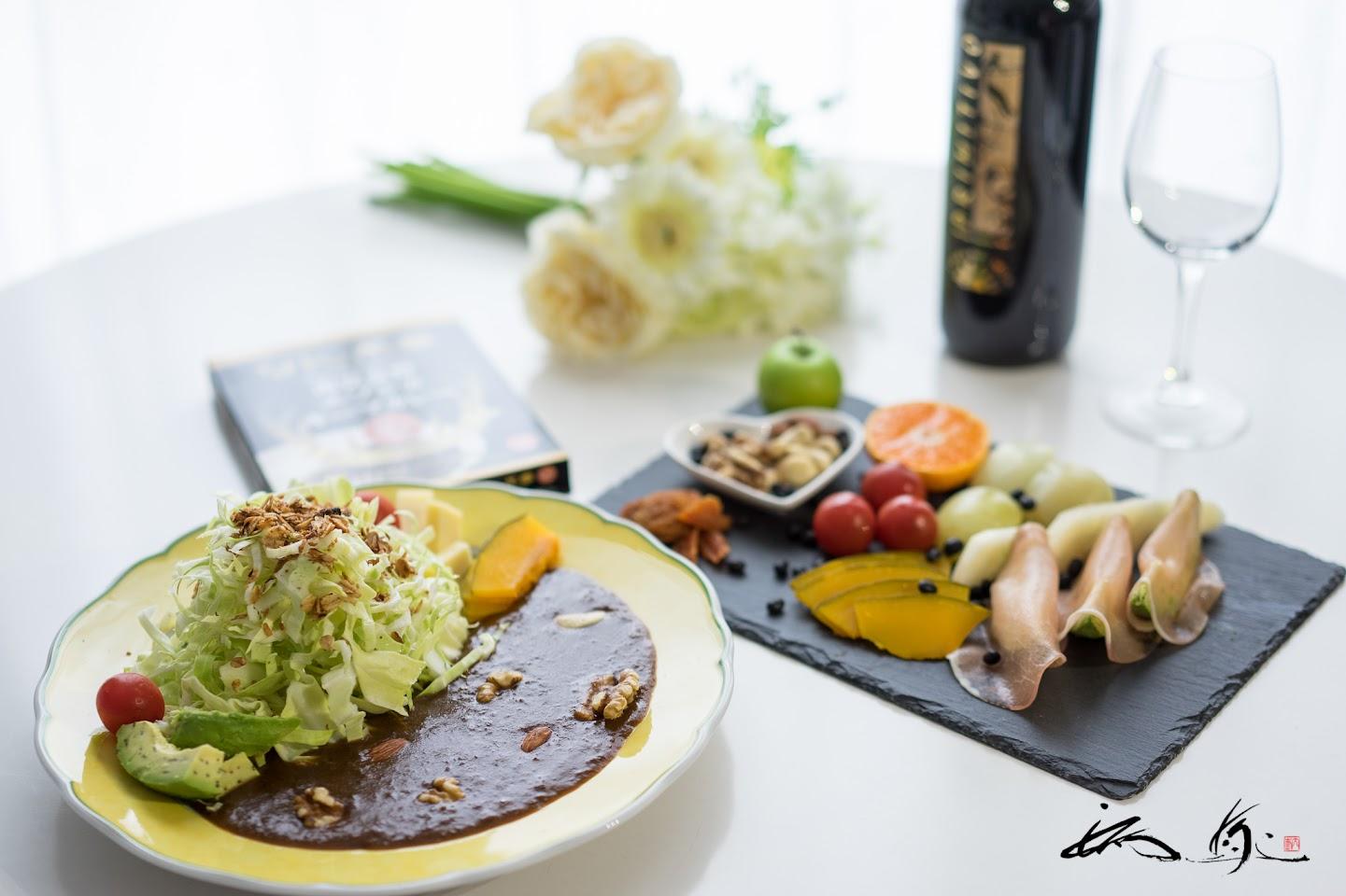 南富良野エゾシカキーマーカレーを使ったパワーサラダ