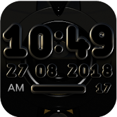 TYCOON gold Digital Clock Widget
