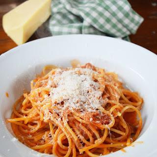 Spaghetti all'Amatriciana.