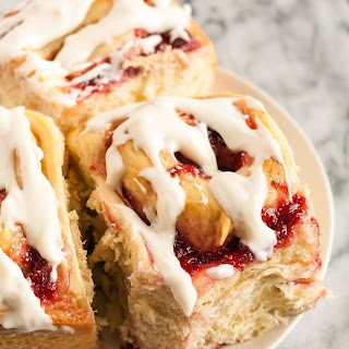 Sweet Rolls with Strawberry Jam