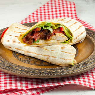 Chicken And Mango Tortilla Wraps.