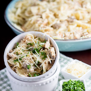 Chicken Farfalle Pasta with Mushrooms