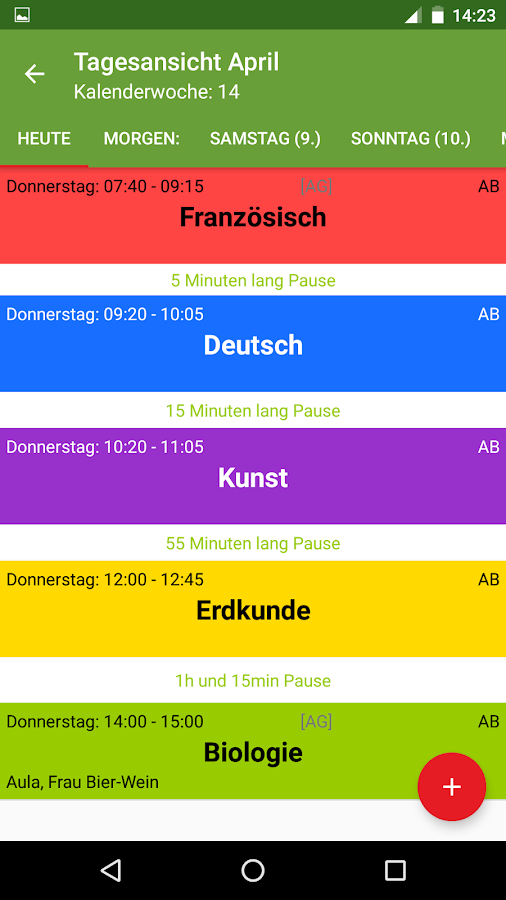 Schedule Deluxe Plus- screenshot