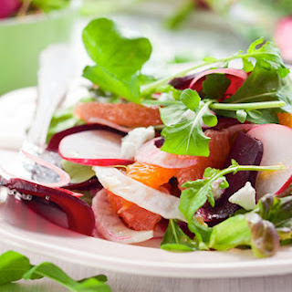Citrus and Spinach Salad with Creamy Lemon Dressing.