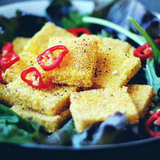 Crispy Polenta Squares [Vegan].