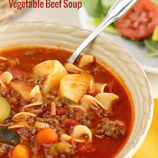 Easy Vegetable Beef Soup.