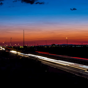 Sunset from Arizona  by David Shearer - Transportation Automobiles