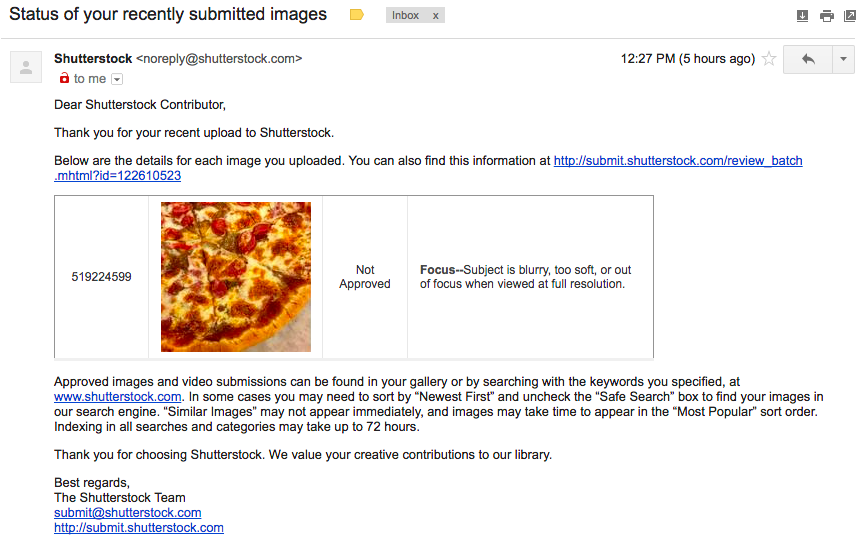 Email Penolakan