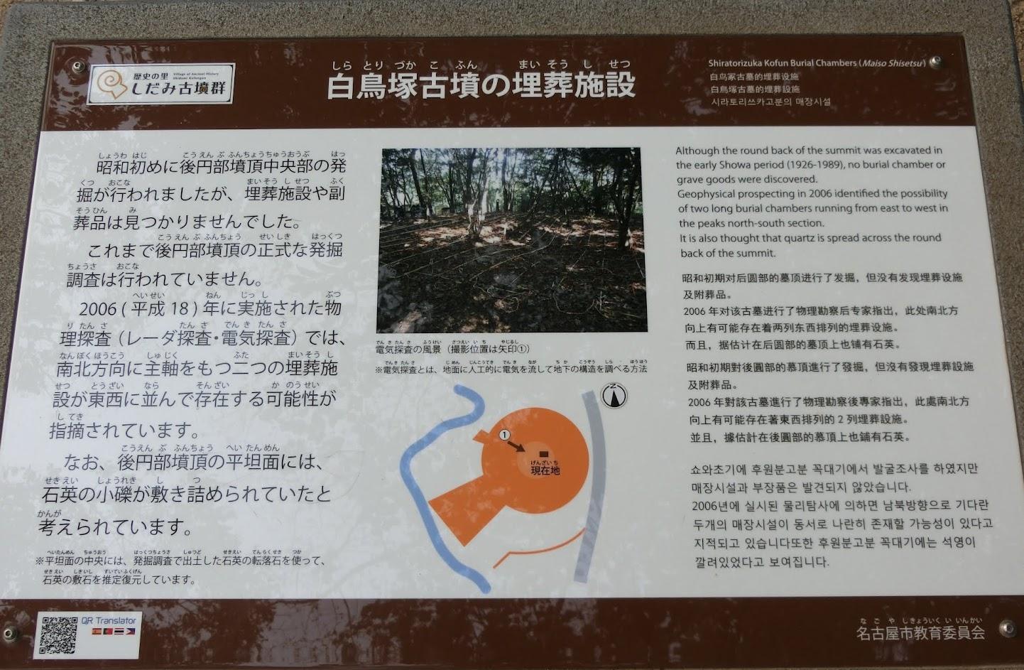 白鳥塚古墳の埋葬施設説明