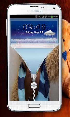 android best teddy Zipper Lock Screenshot 5