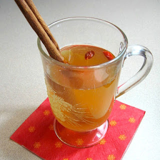 Apple Goji Berry Spiced Cider.
