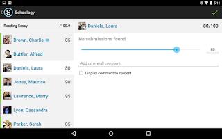 Screenshot of Schoology