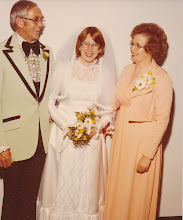 Photo: Phyllis with parents Ed and Mary Netherland.