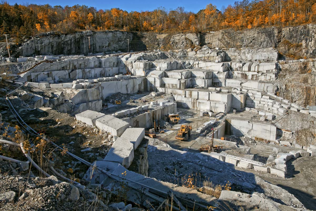 Polycor, Inc.'s Bethel White Quarry, located in Bethel, Vermont