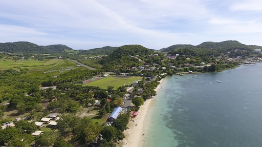 le-marin-drone-footage.png - Drone footage of Le Marin, Martinique, taken during a sailing on Silver Spirit.