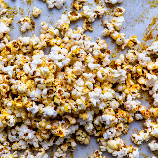 Popcorn with Nutritional Yeast and Aleppo Pepper.