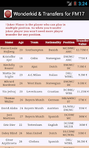 Wonderkid and Transfers for FM screenshot 1
