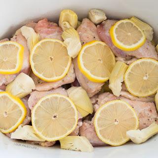 Creamy Lemon Slowcooker Chicken.