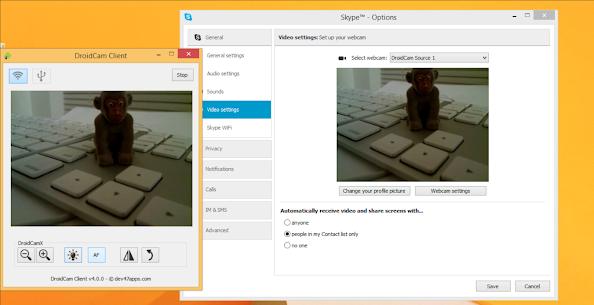 DroidCamX Wireless Webcam Pro 4