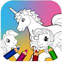 Unicorn Pony Coloring Book icon