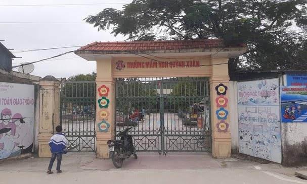 Trường Mầm non Quỳnh Xuân, nơi xảy ra sự việc