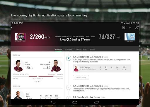 Cricket Australia Live 4.5.1 screenshots 8