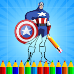 Super Hero Coloring Book Pages Icon