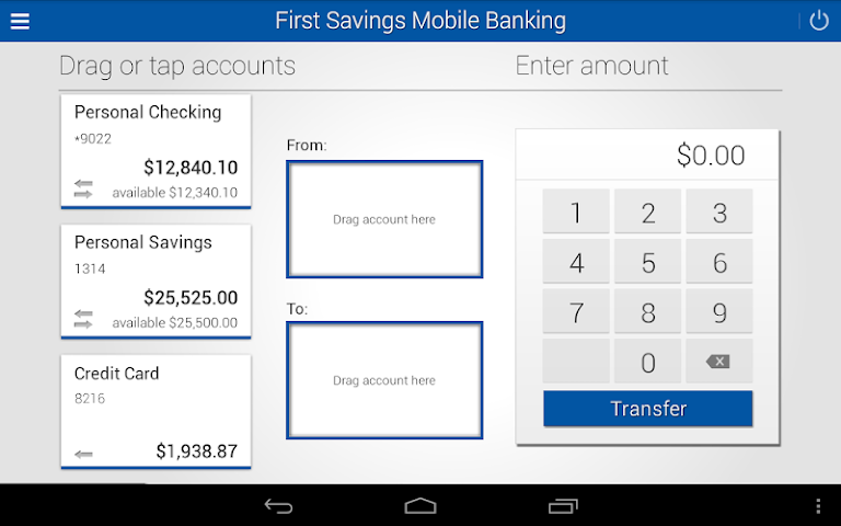 android First Savings Mobile Banking Screenshot 2